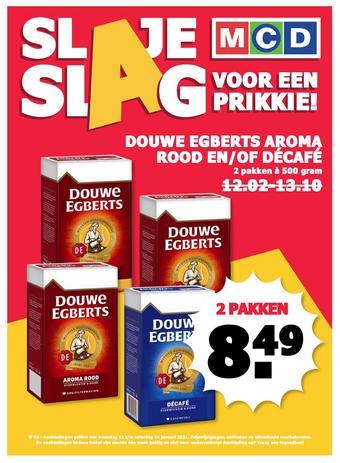 MCD Supermarkt reclame folder (geldig t/m 16-01)