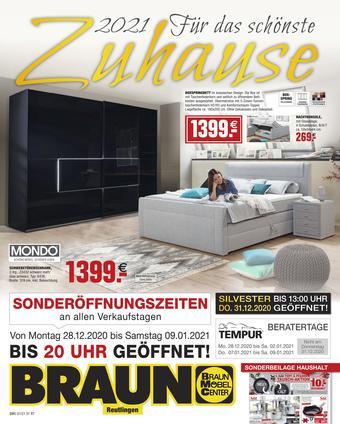 Möbel Braun Prospekt (bis einschl. 28-02)