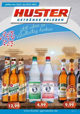 Getränke Huster Prospekt (bis einschl. 30-01)
