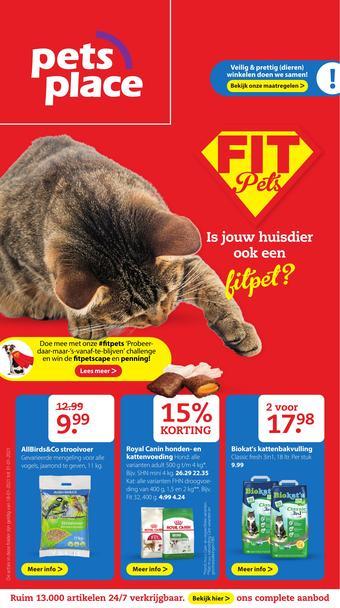 Pets Place reclame folder (geldig t/m 31-01)