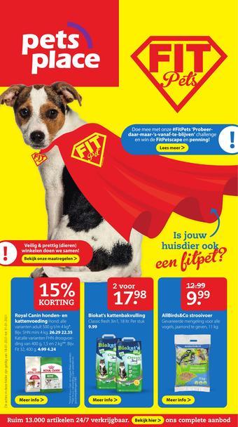 Pets Place reclame folder (geldig t/m 24-01)
