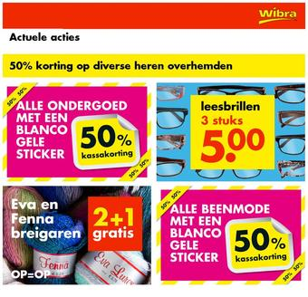 Wibra reclame folder (geldig t/m 17-01)