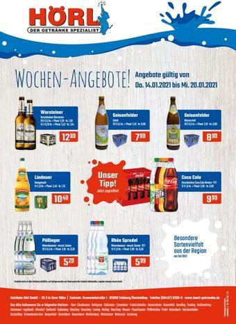 Hörl Getränke Prospekt (bis einschl. 20-01)