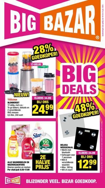 Big Bazar reclame folder (geldig t/m 31-01)
