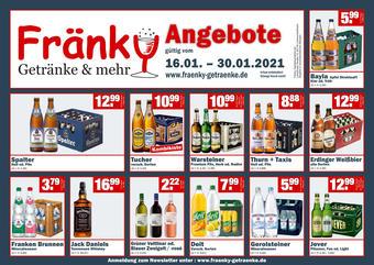 Fränky Getränke Prospekt (bis einschl. 30-01)
