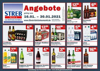 Streb Getränkemarkt Prospekt (bis einschl. 30-01)