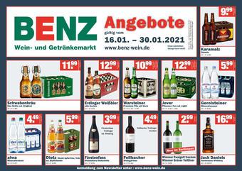 Benz Getränke Prospekt (bis einschl. 30-01)