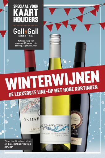Gall & Gall reclame folder (geldig t/m 24-01)