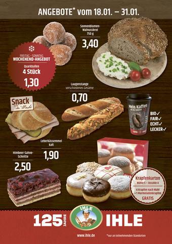 Landbäckerei Ihle Prospekt (bis einschl. 31-01)