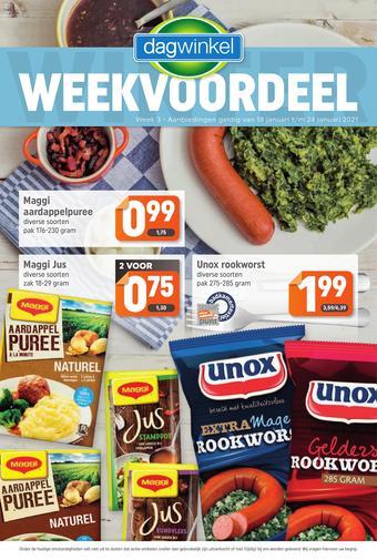 Dagwinkel reclame folder (geldig t/m 24-01)
