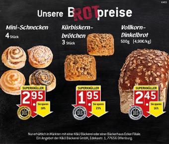 K&U Bäckerei Prospekt (bis einschl. 23-01)