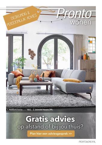 Pronto wonen reclame folder (geldig t/m 31-01)
