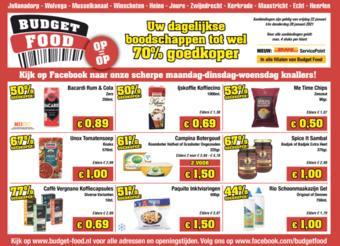 Budget Food reclame folder (geldig t/m 28-01)
