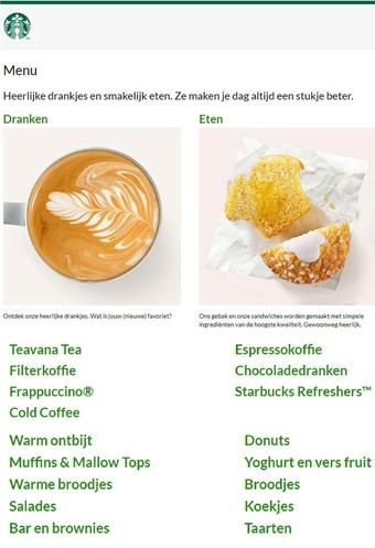 Starbucks reclame folder (geldig t/m 30-06)