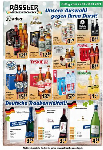 Getränke Rössler Prospekt (bis einschl. 30-01)