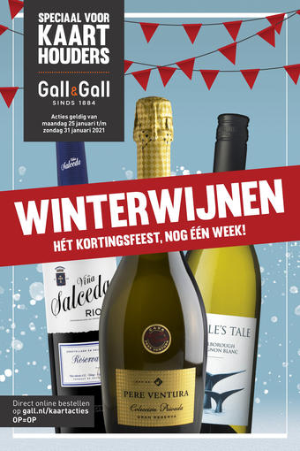 Gall & Gall reclame folder (geldig t/m 31-01)