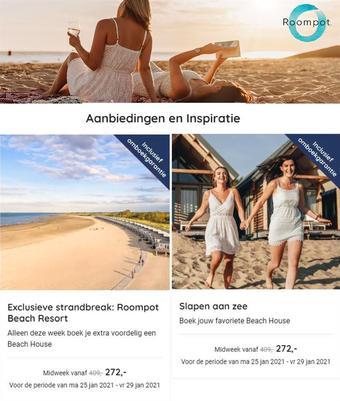 Roompot reclame folder (geldig t/m 29-01)