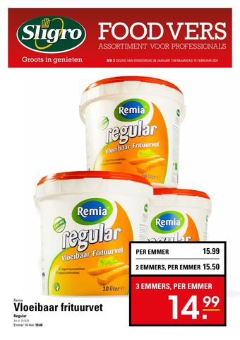 Sligro reclame folder (geldig t/m 15-02)
