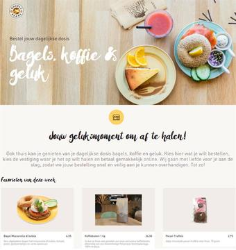 Bagels & Beans reclame folder (geldig t/m 30-06)