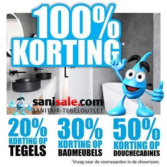 Sanisale reclame folder (geldig t/m 31-03)