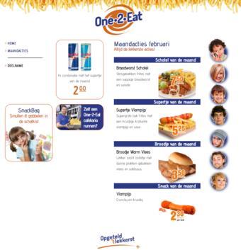 One 2 Eat reclame folder (geldig t/m 28-02)
