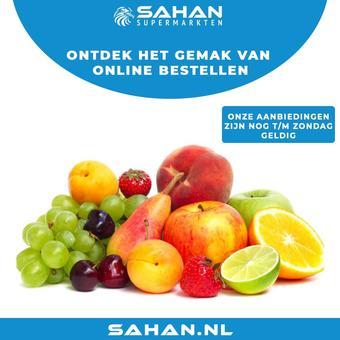 Sahan Supermarkten reclame folder (geldig t/m 28-02)