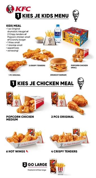 KFC reclame folder (geldig t/m 30-06)