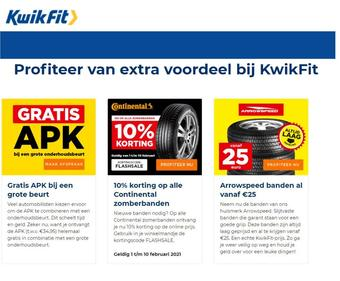 Kwik-fit reclame folder (geldig t/m 28-02)