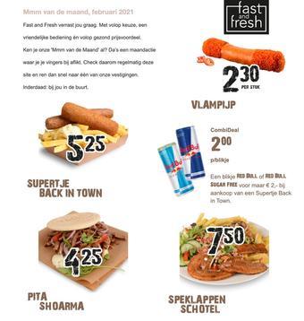 Fast and Fresh reclame folder (geldig t/m 28-02)