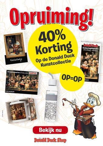 Donald Duck reclame folder (geldig t/m 07-03)