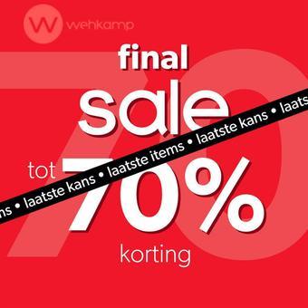 Wehkamp reclame folder (geldig t/m 31-03)