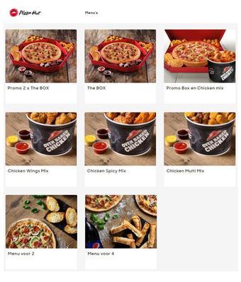 Pizza Hut reclame folder (geldig t/m 30-06)