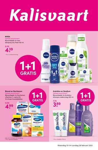 Kalisvaart Drogisterij Beautystore reclame folder (geldig t/m 28-02)