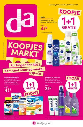 Drogisterij Jacobkamst reclame folder (geldig t/m 28-02)