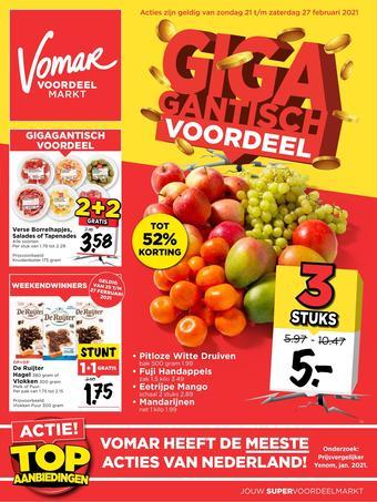 Vomar reclame folder (geldig t/m 27-02)