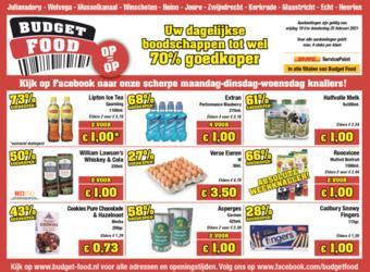 Budget Food reclame folder (geldig t/m 25-02)