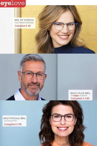 Eyelove brillen reclame folder (geldig t/m 07-03)