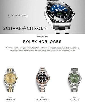 Schaap en Citroen Juweliers reclame folder (geldig t/m 28-02)