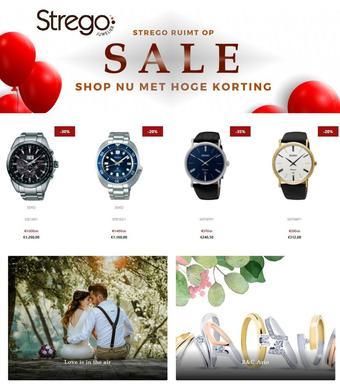 Strego Juwelier reclame folder (geldig t/m 28-02)