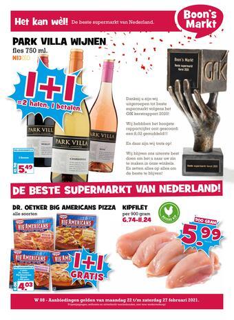 Boon`s Markt reclame folder (geldig t/m 27-02)