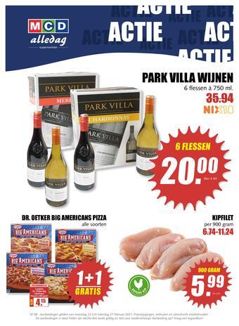MCD Supermarkt reclame folder (geldig t/m 27-02)