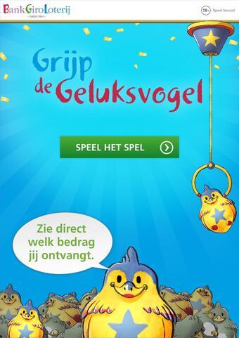 BankGiro Loterij reclame folder (geldig t/m 27-02)