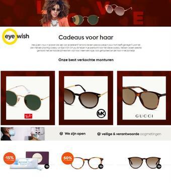 Eye Wish Opticiens reclame folder (geldig t/m 31-03)