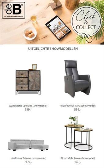 De Bommel Meubelen reclame folder (geldig t/m 07-03)