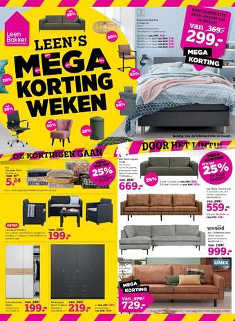 Leen Bakker reclame folder (geldig t/m 14-03)
