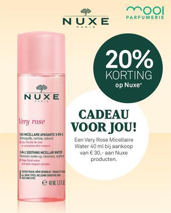 Mooi parfumerie reclame folder (geldig t/m 28-02)