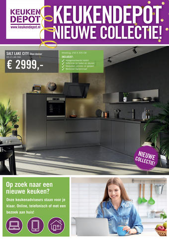 Keukendepot reclame folder (geldig t/m 28-02)