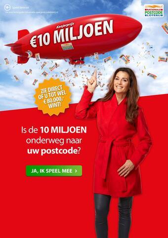 Nationale Postcode Loterij reclame folder (geldig t/m 28-02)
