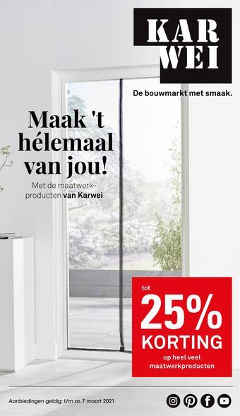 Karwei reclame folder (geldig t/m 07-03)