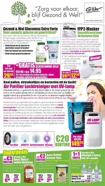 Gezond & Wel reclame folder (geldig t/m 14-03)